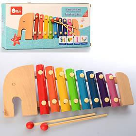 Деревянная игрушка Ксилофон, размер 31,5 см. в коробке