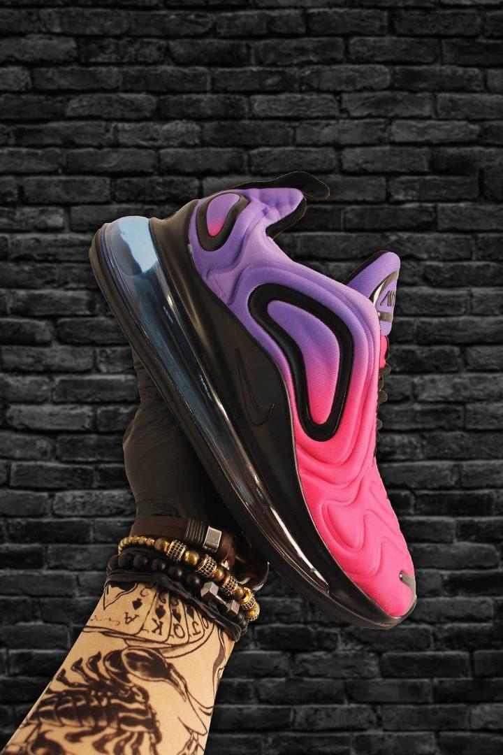 Женские кроссовки Nike Air Max 720 Violet Red (Фиолетовый Красный). [Размеры в наличии: 38,39,40]