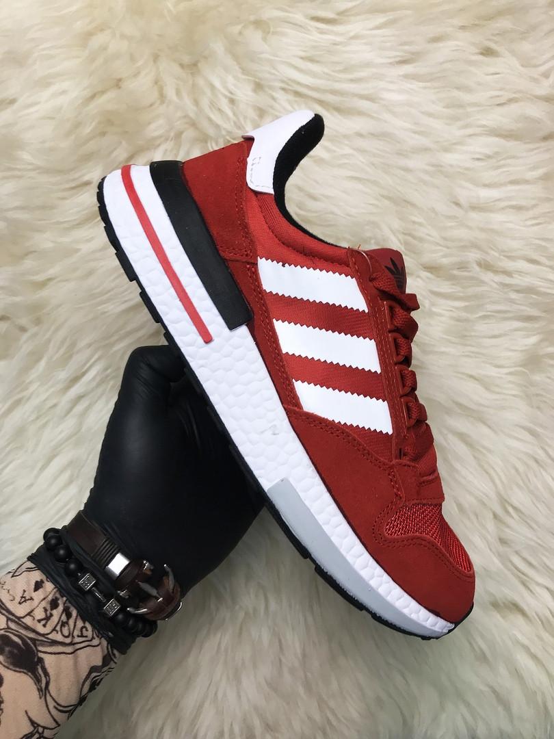 Мужские кроссовки Adidas ZX 500 RM Red (Красный). [Размеры в наличии: 41,42,43,44,45]