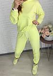 Базовый женский спортивный костюм из трехнитки пенье 26-935, фото 4