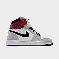 Мужские кроссовки Nike Air Jordan 1 Grey White (Серый). [Размеры в наличии: 41,42,43]