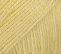 Детская пряжа (40%мериносовая шерсть, 20%кашемир, 40%акрил; 50г/175м) Gazzal Baby Wool 833(св.желтый)