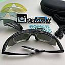 Велоокуляри, окуляри для велосипедиста, окуляри для їзди на велосипеді, окуляри із змінними лінзами, фото 5