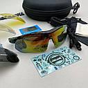 Велоокуляри, окуляри для велосипедиста, окуляри для їзди на велосипеді, окуляри із змінними лінзами, фото 2