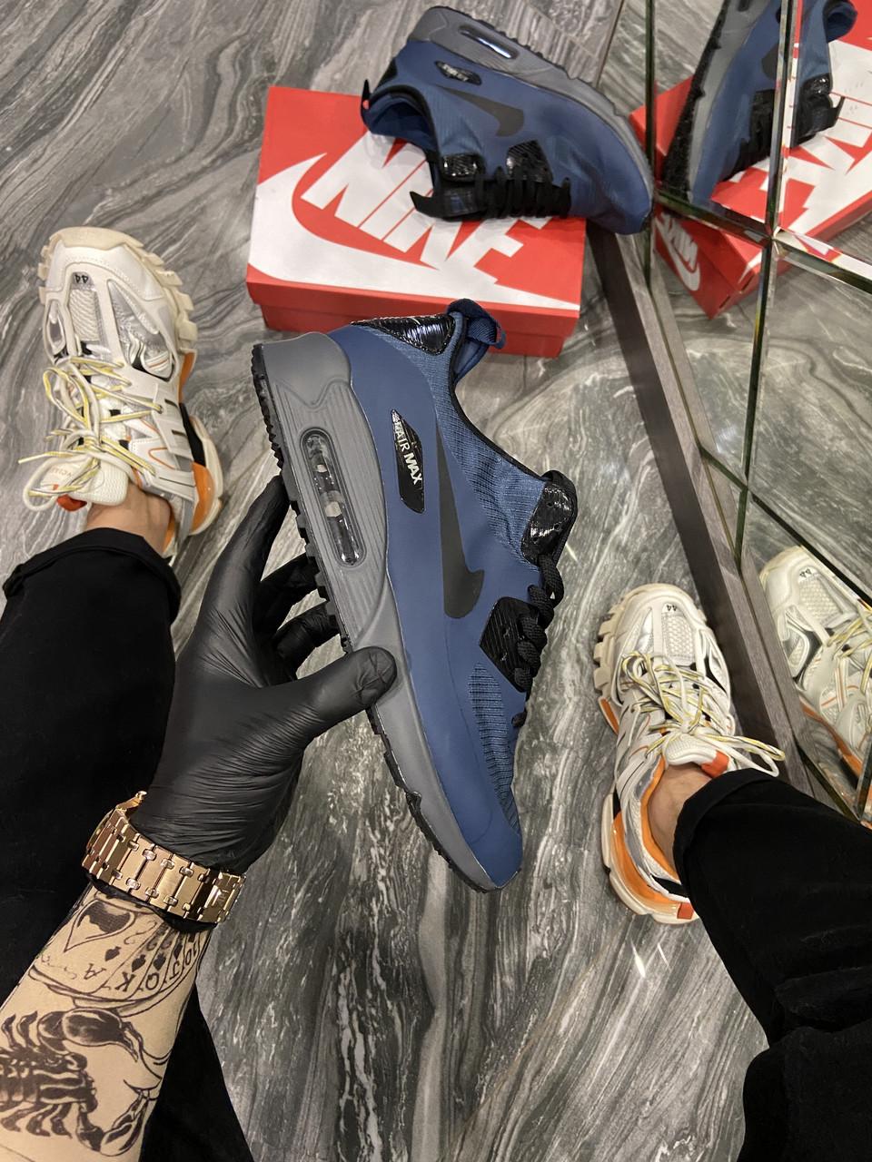 Мужские кроссовки Nike Air Max 90 Mid Winter Blue (Синий). [Размеры в наличии: 40,42,43,44]