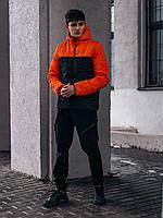 """Демисезонная Куртка """"Temp"""" бренда Intruder (оранжевая - черная), фото 1"""