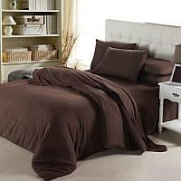 Ткань для постельного белья ранфорс 27V коричневый 240м однотонная 130 плотность Selonya Турция