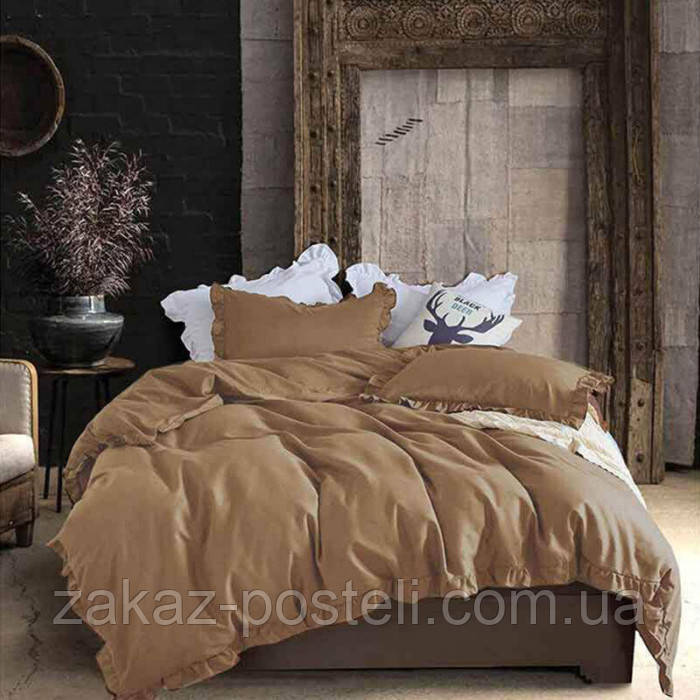 Ткань для постельного белья ранфорс 218035 67V мол.шоколад 240м однотонная 130 плотность Selonya Турция