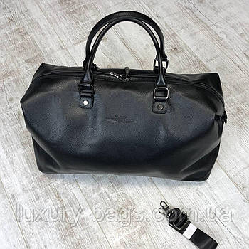 Мужская кожаная спортивная сумка Armani