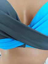 Купальник двухцветный Sisianna голубой 39203 на 46 48 50 52 размер, фото 2