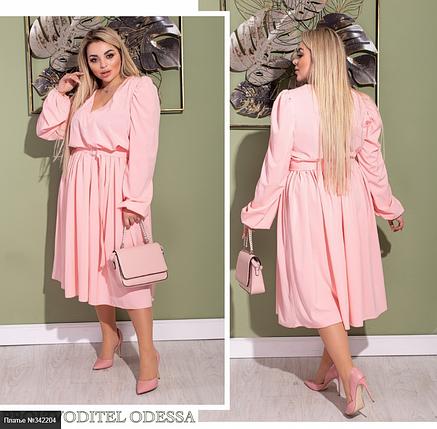 Розовое платье батал Размеры: 48-50, 52-54, 56-58, фото 2