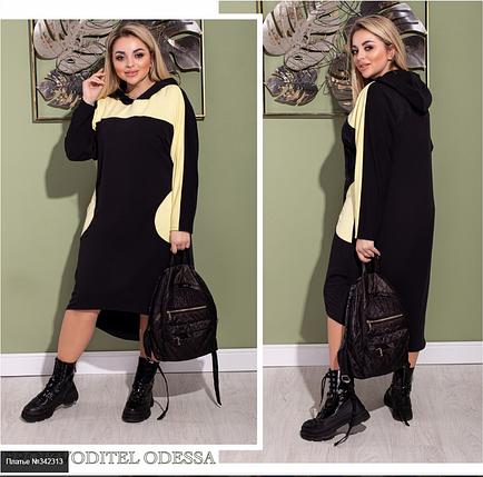 Платье женское в спортивном стиле батал Украина Размеры: 48-50, 52-54, 56-58, фото 2
