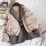 Коротка жіноча куртка з капюшоном мерехтливої кольору 42, фото 6