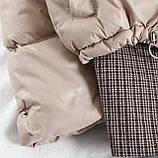 Коротка жіноча куртка з капюшоном мерехтливої кольору 42, фото 8