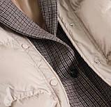Коротка жіноча куртка з капюшоном мерехтливої кольору 42, фото 9