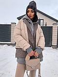 Коротка жіноча куртка з капюшоном мерехтливої кольору 42, фото 5