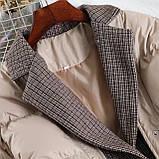 Коротка жіноча куртка з капюшоном мерехтливої кольору 42, фото 10