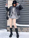 Коротка жіноча куртка з капюшоном мерехтливої кольору 42, фото 3