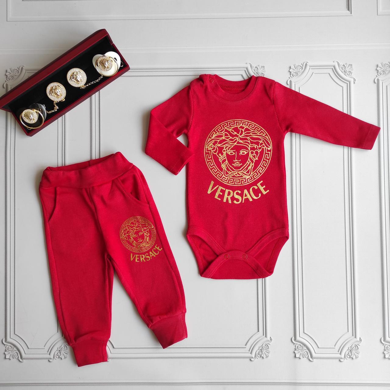 Костюм для новорожденных Versace -  бодик, штаны.