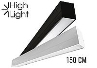 Линейный светодиодный светильник на подвесах 45W 3000K/4000K/5000K Cree (USA) 1500х48х60
