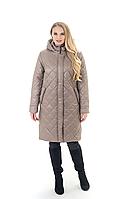 Стильная женская куртка весна-осень стеганная большой размер 52-70