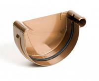 Заглушка желоба правая водосточной системы Бриза (Bryza) 125 мм медный