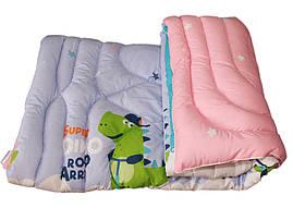 Одеяло детское лебяжий пух полуторное 145х215  Крокодильчик