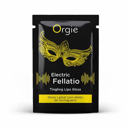 Блеск для губ с вибрацией Orgie ELECTRIC FELLATIO, 2 мл, фото 2