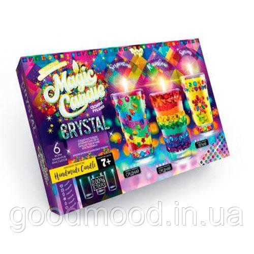 """Набір креативної творчості """"MAGIC CANDLE CRYSTAL"""" парафінові свічки з кристалами"""