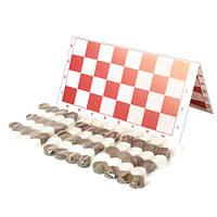 Шашки + нарды (3 набора шашек) (32*16*2см) 034 Бамсик