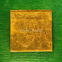 Золотая мозаика 46х46мм ORO VETRO настоящее золото 24 карата, Суперпрозрачное стекло DIAMANT