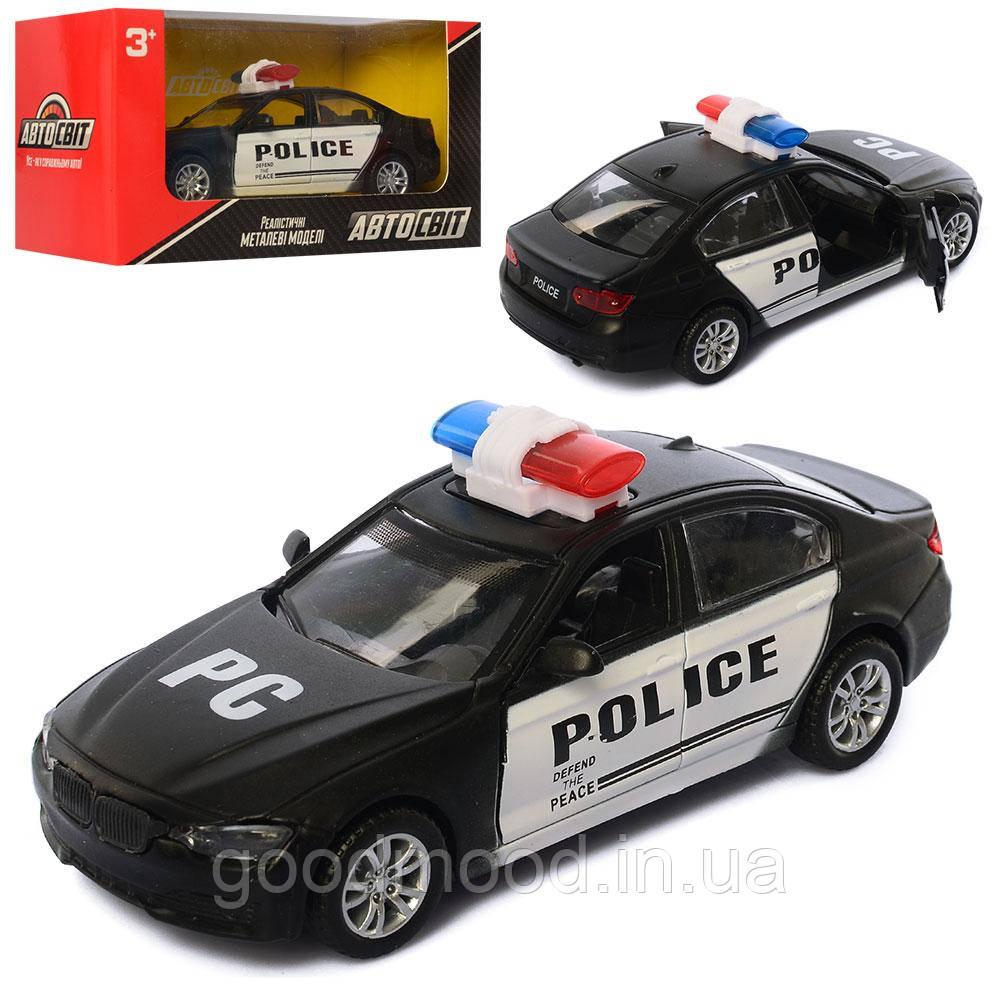 Машина AS-2258   АвтоСвіт, металл, инер-я, полиция, 14см, открыв.двери, в кор-ке, 17-8,5-7,5см