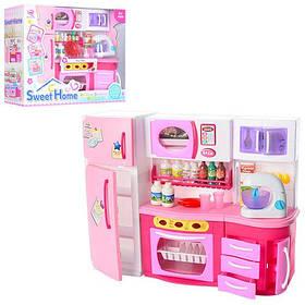 Меблі 2803S (12шт) кухня,27см,холодильник,звук,світло,продукти,посуд,на бат-ке,в кор-ке,37-29-12см