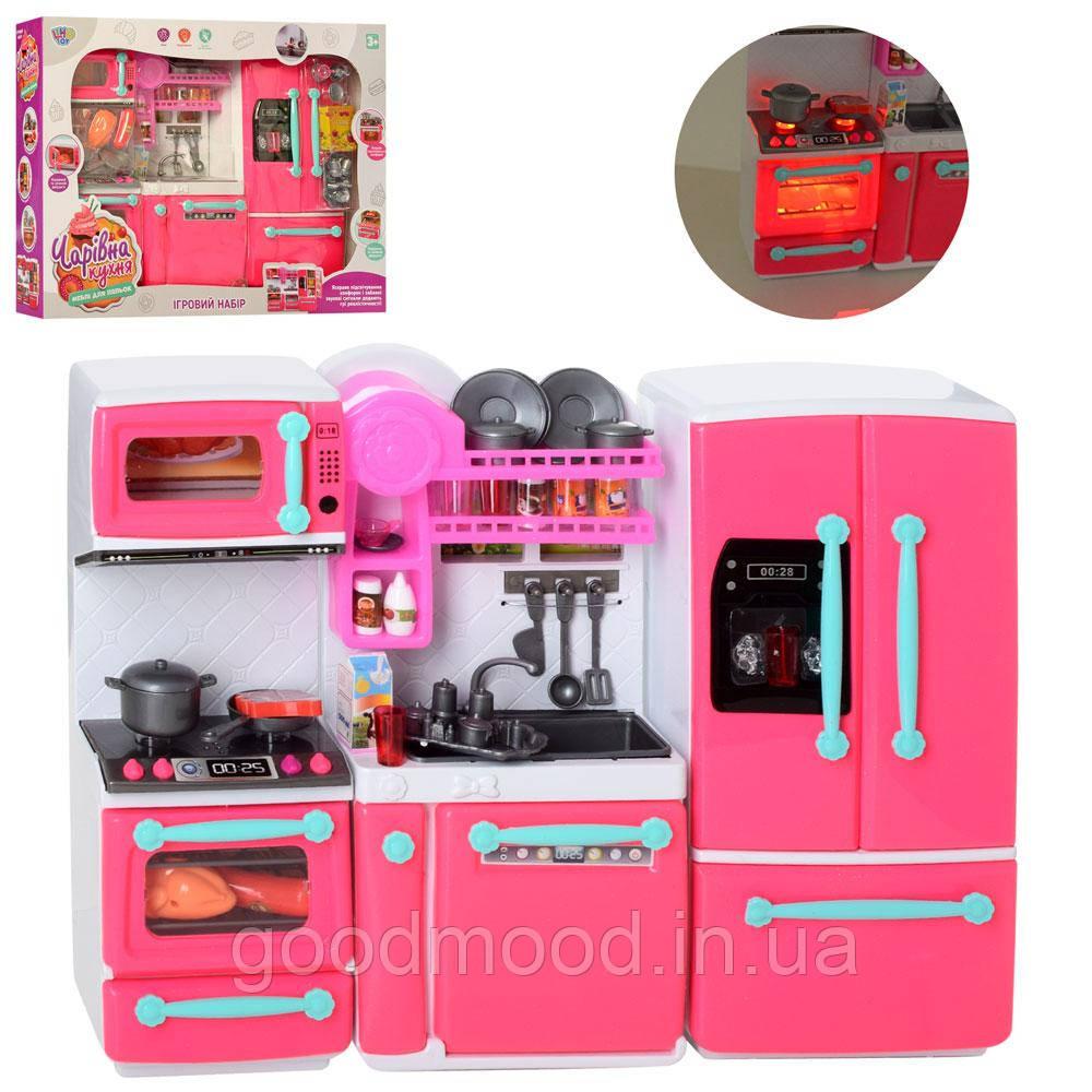 Меблі 66095 кухня,29-38см,плита, холодильник,посуд,продукти,звук,св,бат,в кор,46-34,5-9,5 см