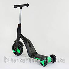 Самокат 3в1 JT 40405 Best Scooter, самокат-велобіг від-велосипед, світло, 8 мелодій, PU колеса d=20/d=11см, фото 3