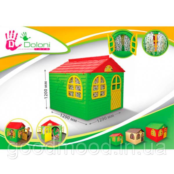 """""""Будинок зі шторками"""", 129.0 x 129.0 x 120.0 см, артикул 02550/3 DOLONI-TOYS"""