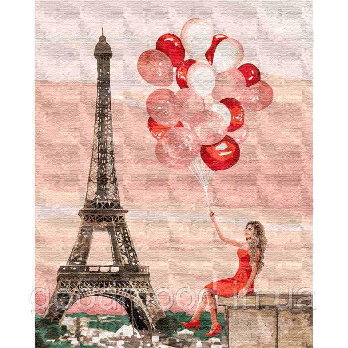 """Набір для розпису по номерах. """"Червоні фарби Парижу"""" 40*50см"""