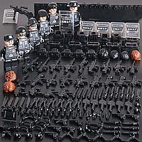 Фигурки черных спецназовцев 2 в 1 солдаты аналог Лего Lego BrickArms