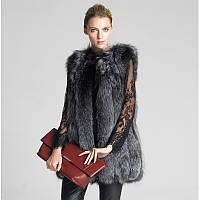 Женская меховая жилетка. Искусственный мех, модель 0348