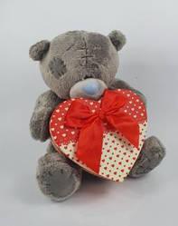 Ведмедик Тедді 35 см з коробкою для подарунка