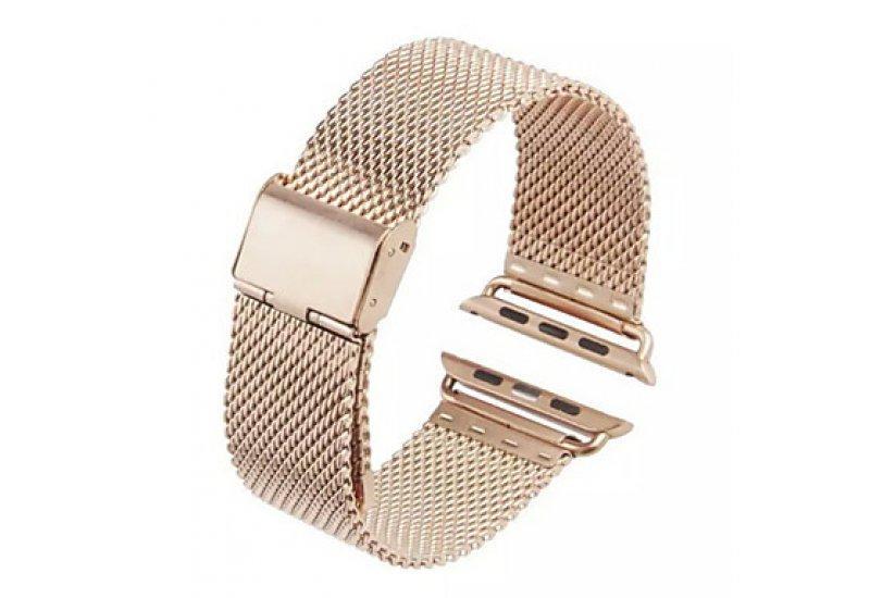 Ремінець Grand Space Stainless Steel для смарт-годин Apple Watch 42mm Rose Gold (AL838_42mm)