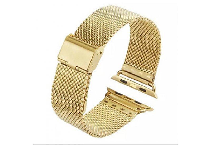 Ремінець Grand Space Stainless Steel для смарт-годин Apple Watch Gold 42mm (AL839_42mm)