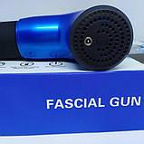 Портативний ручний вібраційний ударний масажер для тіла Fascial Gun, фото 6