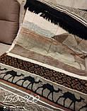 Хлопковое Плед Покрывало С Коротким Ворсом C Бахромой Турция Venera, фото 8