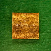 Золотая мозаика 30х30мм ORO VETRO настоящее золото 24 карата, Суперпрозрачное стекло DIAMANT, фото 1