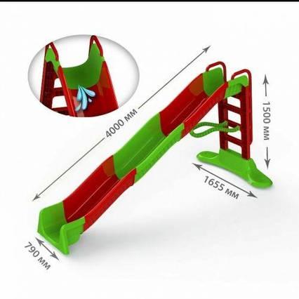 Горка для катания 400 см красно-зеленая 01450/3