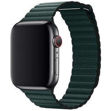 Кожаный ремешок Grand Leather Loop Band для Apple Watch 38/40 mm Forest Green (AL5175)