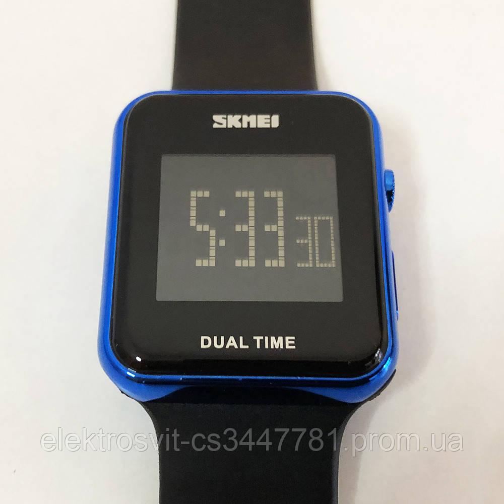 Часы наручные SKMEI с LED дисплеем. Цвет: синий