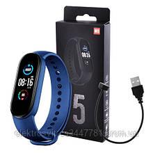 Фитнес браслет Smart Watch M5 Band Classic Black смарт часы-трекер. Цвет: синий