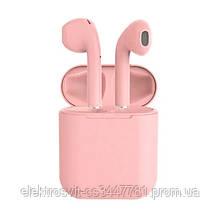 Беспроводные bluetooth-наушники i12 5.0 с кейсом. Цвет: розовый